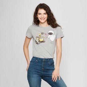 Women's WALL-E short sleeve heather gray tee